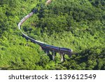 aerial view of train and... | Shutterstock . vector #1139612549