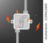 power cable connector short... | Shutterstock .eps vector #1139612603
