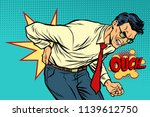 man back pain  medicine and... | Shutterstock .eps vector #1139612750