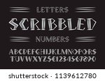 scribbled letters and numbers... | Shutterstock .eps vector #1139612780