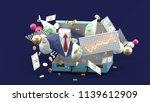 suit  money  graph floating... | Shutterstock . vector #1139612909