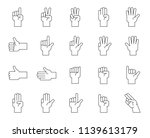 hand counting and hand gesture... | Shutterstock .eps vector #1139613179