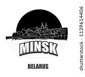minsk  belarus  black and white ... | Shutterstock .eps vector #1139614406