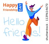happy friendship day. a happy... | Shutterstock .eps vector #1139614670