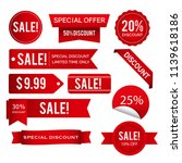sales discounts offers tags... | Shutterstock .eps vector #1139618186