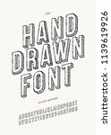 vector hand draw font 3d for... | Shutterstock .eps vector #1139619926