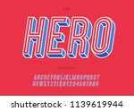 vector hero slanted alphabet... | Shutterstock .eps vector #1139619944