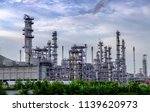 industrial  oil refinery. gas... | Shutterstock . vector #1139620973