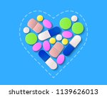 pills  tablets and capsules... | Shutterstock .eps vector #1139626013