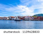 haugesund downtown  norway. | Shutterstock . vector #1139628833