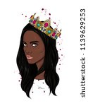 beautiful girl in crown. girl... | Shutterstock .eps vector #1139629253