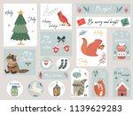 christmas set  hand drawn... | Shutterstock .eps vector #1139629283