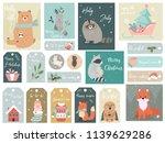 christmas set  hand drawn... | Shutterstock .eps vector #1139629286