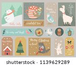 christmas set  hand drawn... | Shutterstock .eps vector #1139629289