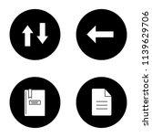 ui ux glyph icons set. vertical ...