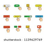 app buttons color icons set....