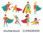 cartoon superhero characters.... | Shutterstock .eps vector #1139630450