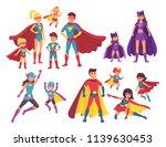 superhero family characters.... | Shutterstock .eps vector #1139630453