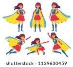 woman superhero character.... | Shutterstock .eps vector #1139630459