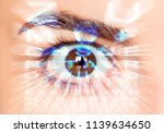 close up of an eye and vision... | Shutterstock . vector #1139634650