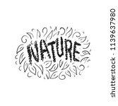 nature. sketch. vector... | Shutterstock .eps vector #1139637980