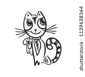 cute cat. sketch. vector... | Shutterstock .eps vector #1139638364
