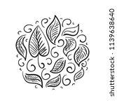 leaves. sketch. vector... | Shutterstock .eps vector #1139638640