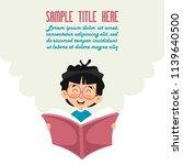 vector illustration of kid... | Shutterstock .eps vector #1139640500