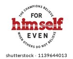 the champions believe for...   Shutterstock .eps vector #1139644013