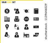 trade icons set with money lamp ... | Shutterstock .eps vector #1139646029