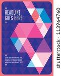 print  vector poster design... | Shutterstock .eps vector #113964760