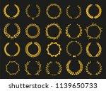 set of laurel wreaths. heraldic ... | Shutterstock .eps vector #1139650733