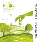illustration environmentally... | Shutterstock . vector #113965126