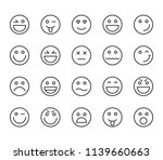 set of emoji emoticons icons... | Shutterstock .eps vector #1139660663