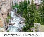Scenic Boulder River Flowing...