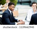 young intercultural employees...   Shutterstock . vector #1139662940