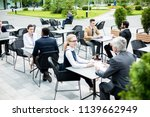 small groups of employees in...   Shutterstock . vector #1139662949