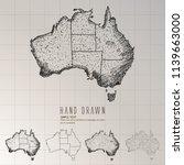 hand drawn australia map. | Shutterstock .eps vector #1139663000