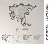 hand drawn asia map. | Shutterstock .eps vector #1139663003