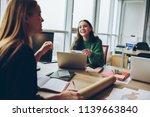 smiling young women having fun...   Shutterstock . vector #1139663840