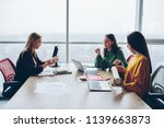 young women crew of designer... | Shutterstock . vector #1139663873