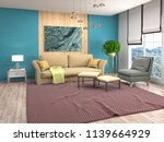 interior of the living room. 3d ... | Shutterstock . vector #1139664929