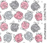seamless baby pattern. happy... | Shutterstock .eps vector #1139674793