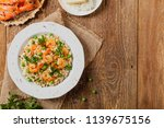 risotto with shrimp. top view.... | Shutterstock . vector #1139675156