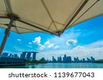 skyline of singapore city.... | Shutterstock . vector #1139677043