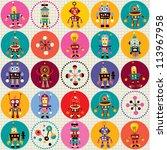 robots pattern | Shutterstock .eps vector #113967958