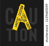 yellow cation tape forming... | Shutterstock .eps vector #1139685059