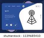 quality one page wi fi website... | Shutterstock .eps vector #1139685410
