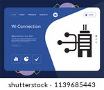 quality one page wi connection... | Shutterstock .eps vector #1139685443