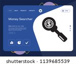 quality one page money searcher ... | Shutterstock .eps vector #1139685539